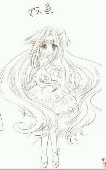 > 簡筆畫之星座公主_12星座圖簡筆畫  十二星座專屬蘇菲亞公主裙,獅子