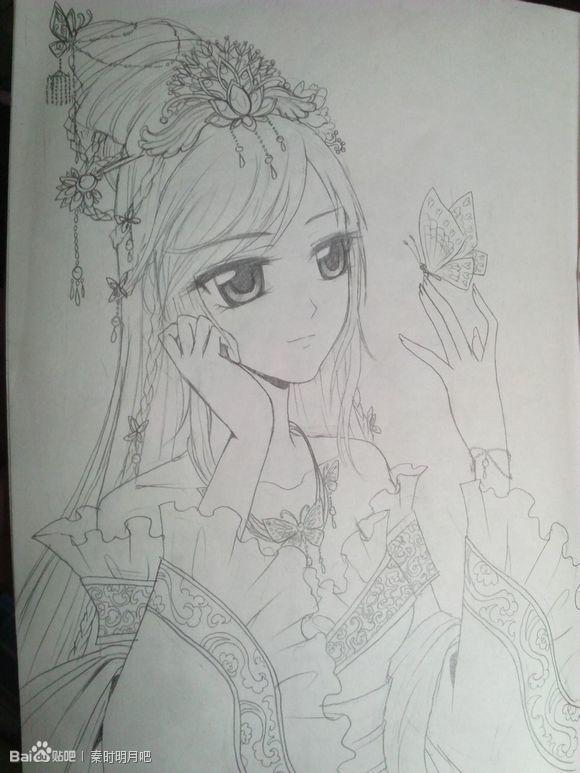【金奈】【转】手绘古装美女 超美腻的