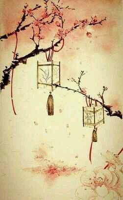 手绘红豆壁纸 古风
