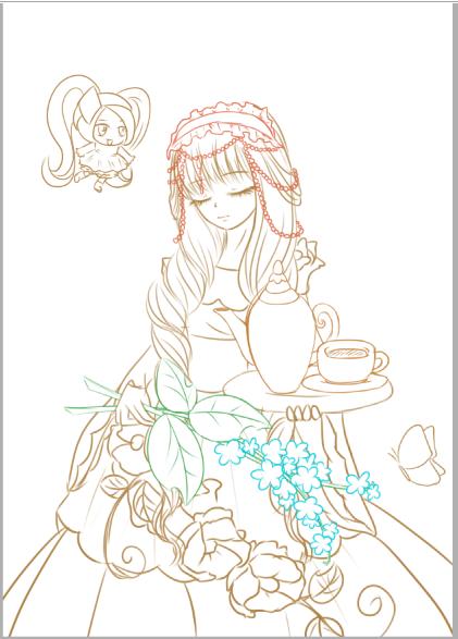 小薇花仙子手绘