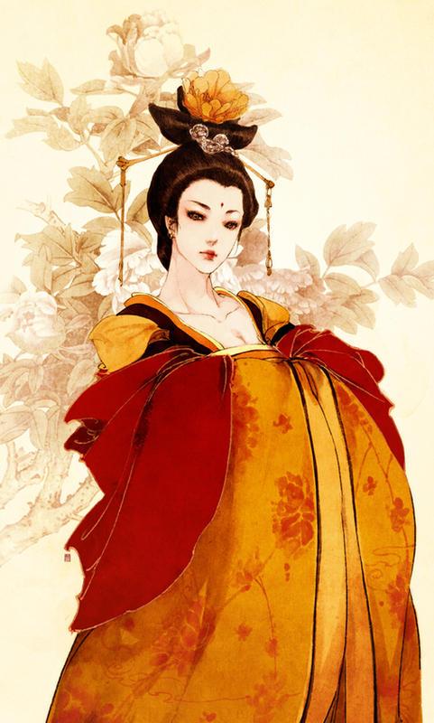 古风手绘女王和尚