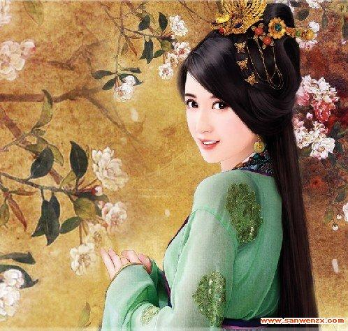 【丹青】古代女子丹青图片