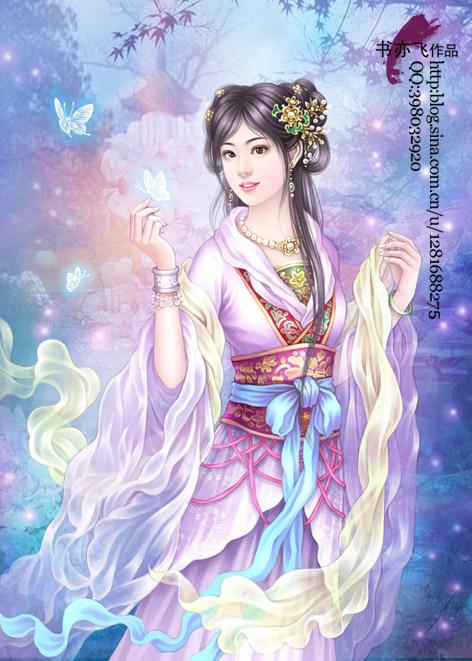 古风手绘仙女线稿