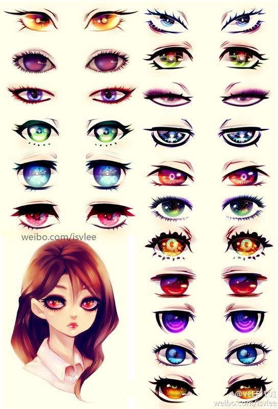 【猫月】动漫眼睛画法