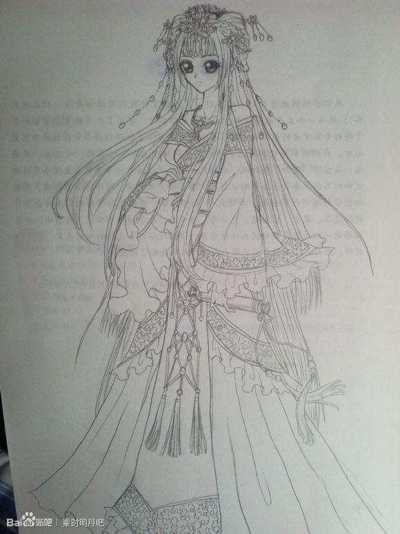 【狐狸】手绘古装美女~配古风句子!【转】_古风圈_百田网;