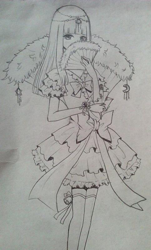 【绾1暖】手绘古装美女~走过路过不要错过