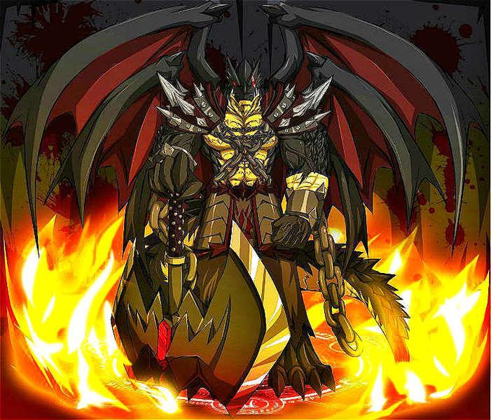 奥拉星原创亚比—黑炎龙超进化.黑炎魔龙
