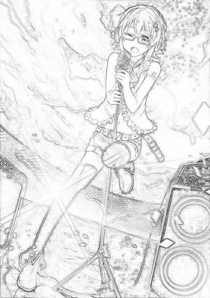 [祭血]手绘.卡通人物_百田偶像活动圈