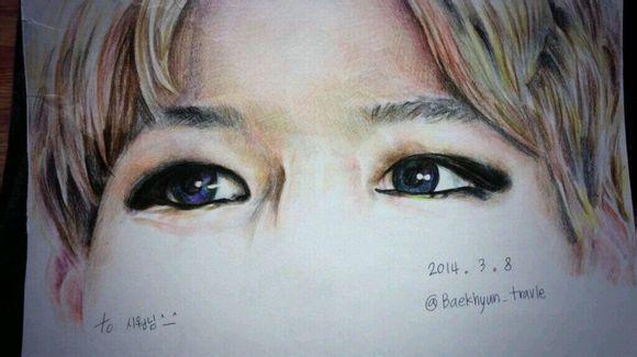 【萱小果】exo|手绘十二指眼睛