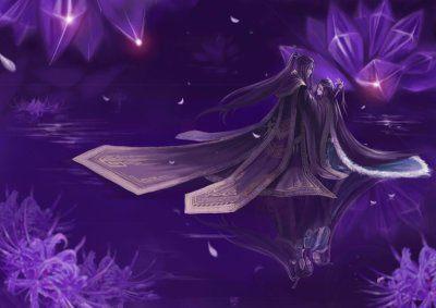 古风素材底图紫色系