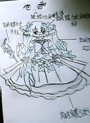 蝴蝶阴影手绘插图
