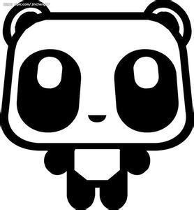 圆形设计图案熊猫