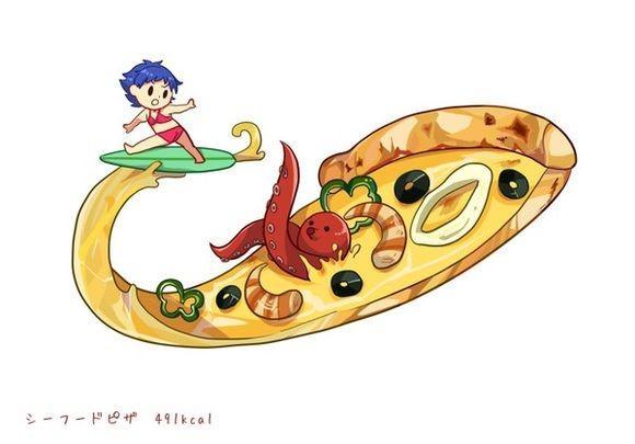 超可爱的食物拟人萌图