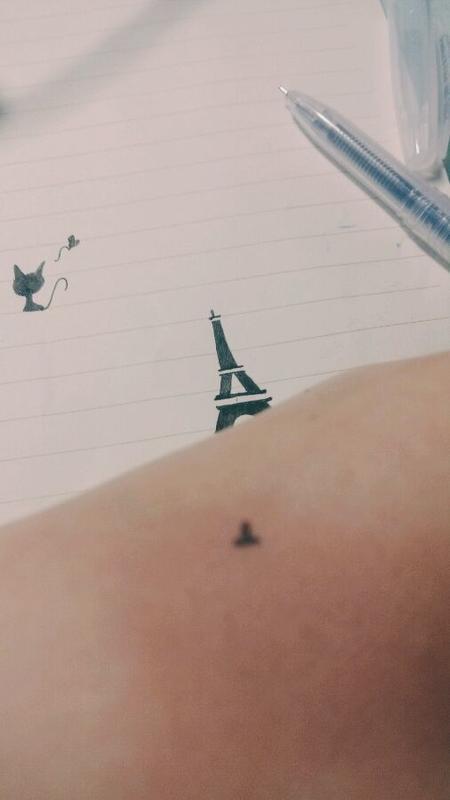 【箜子】教你在手上画霸气可爱的纹身