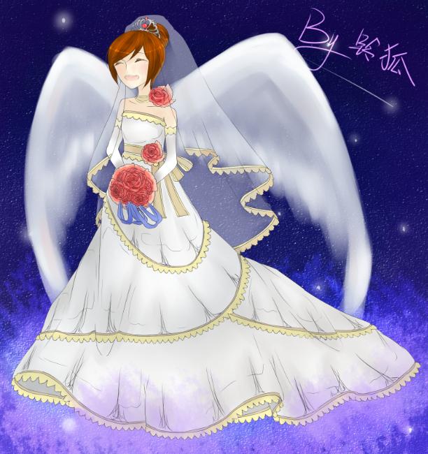 铃狐奥比岛板绘秀作品--星の婚纱