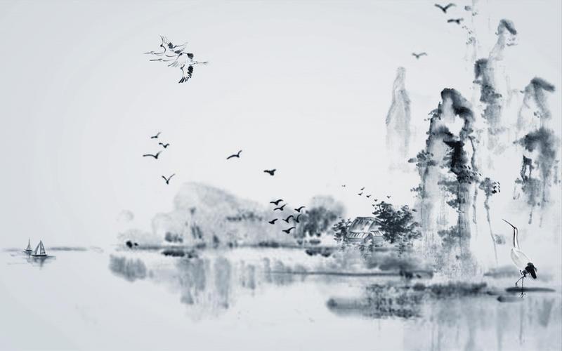 中国风古典水墨背景图片 xp青花瓷中国风主题美化包 非周杰伦版