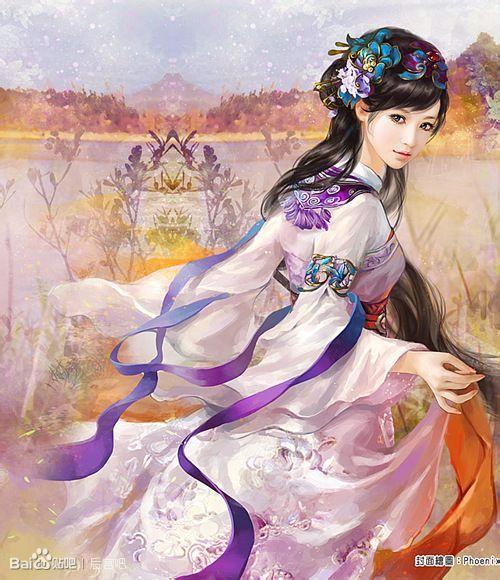 古代美女丹青_百田奥比岛圈图片