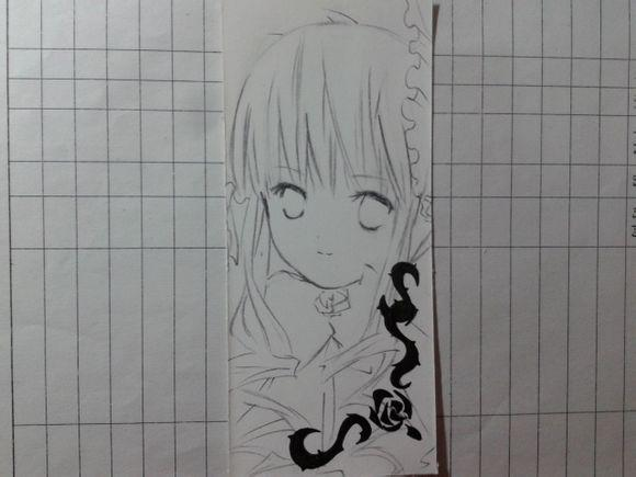 ∑椛薇.]转の手绘书签