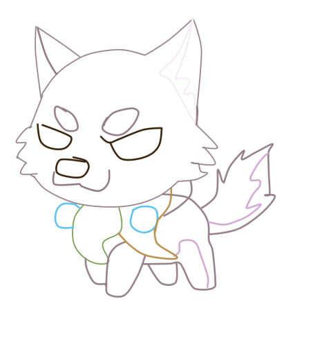 狼的画法步骤