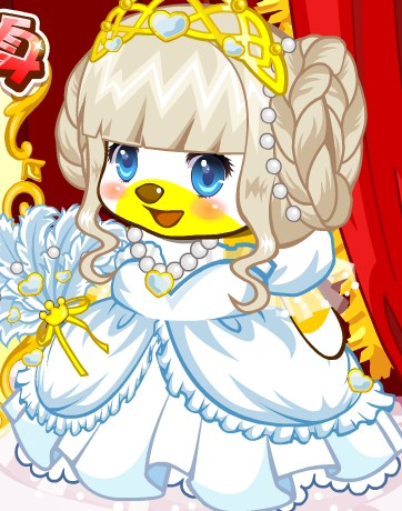 奥比岛王子公主大变身游戏前画面的公主穿的是