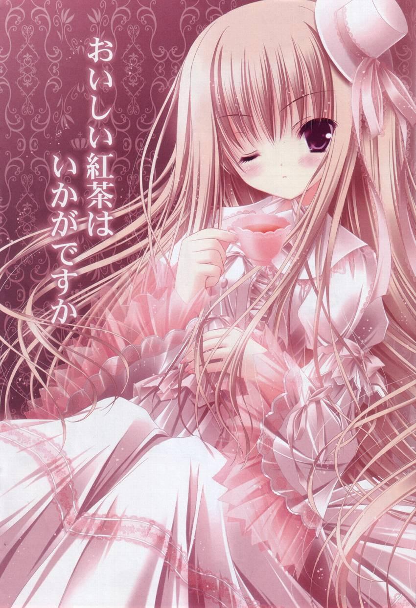 头发是粉色的可爱动漫美少女图片